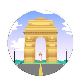 India Gate Printed Mobile Pop Socket