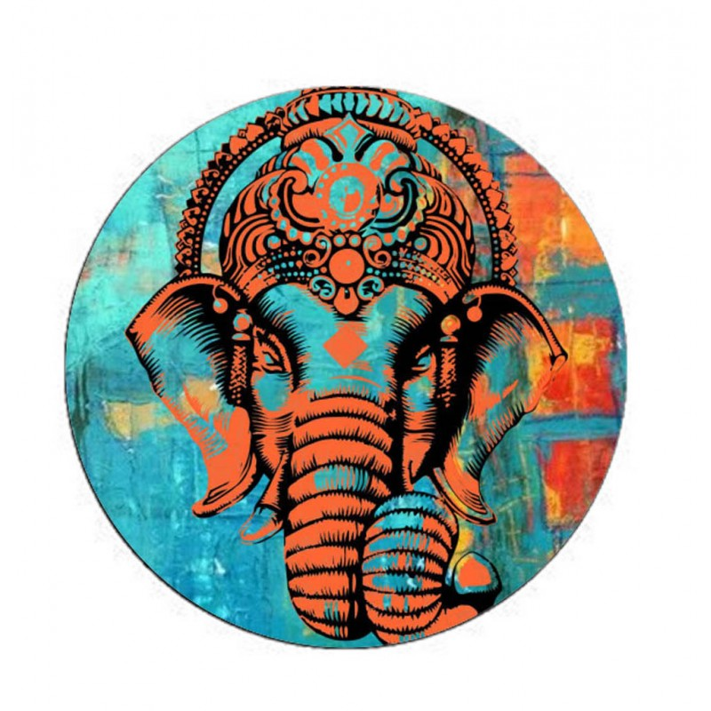 Colourfull Lord Ganesh Face Printed On Popsocket For Mobile