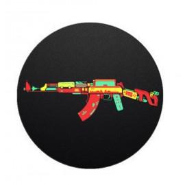 Colorful AK 47 Printed on Black Mobile Popsocket