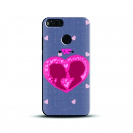 Designer enclosed heart Case and Cover For Mobile Phone