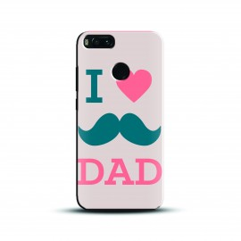 Design i luv moustache dad Case and Cover For Mobile Phone