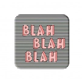 Blah Blah Blah Printed Square Shaped Popsocket