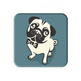 Pug Dog Printed Square Shaped Popsocket