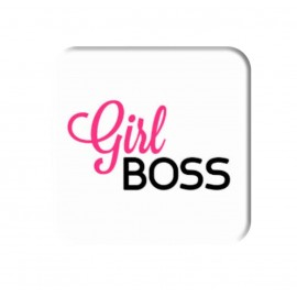 Girl Boss Pink Color Printed Square Popsocket