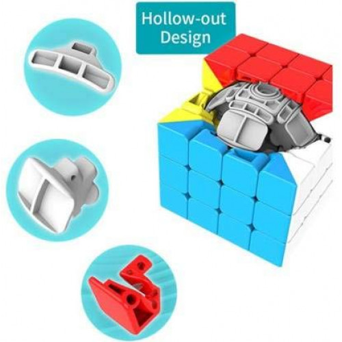 4x4x4 Sticker less High Speed Magic Cube Puzzle Game Toy,