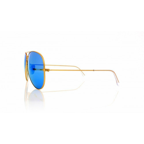 NEW RAY BAN RB3025-112-4L authentic Sunglasses Gold Blue POLARIZED Made In Italy