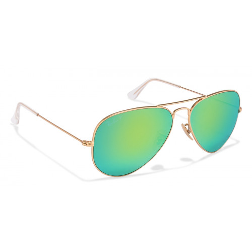 Ray-Ban RB3025 Medium (Size-58) Matte Golden Yellow Green Mirror Unisex 112-19 Sunglasses