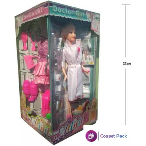 Cossetpack Annie Doctor, Pet, Tourism and Chef Doll Set in 1 (Multicolor)