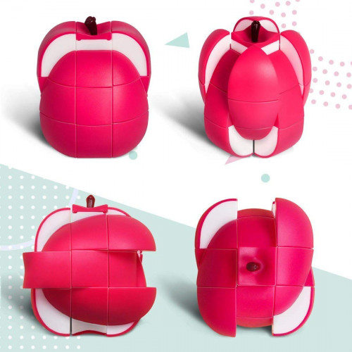 Apple Shaped Magic Speed Cube 3x3, Stress Relief Toys for Adults & Children Cube Educational Creative Puzzle Toys