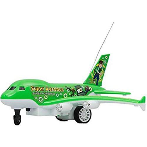 Ben 10 Plastic Aerobus Remote Plane Toys (Green)