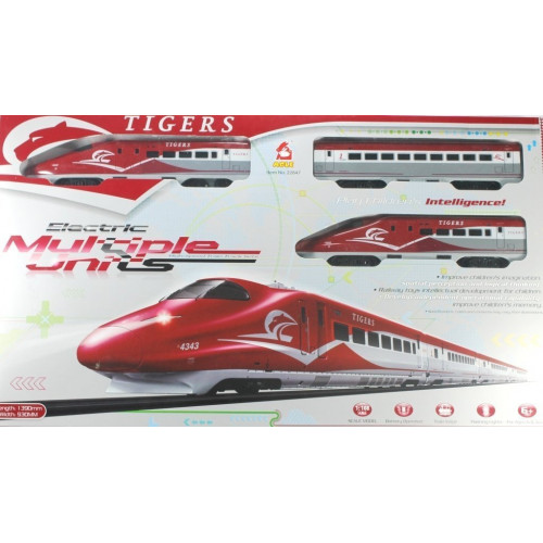 High speed train track set with long tracks, station & barriers battery operated high speed bullet train-Multi color