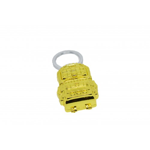 PUBG Metal Gold Bag Keychain
