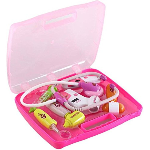 Family Battery Operated Doctor Set 8 PCS Kit With Lights & Music For Kids