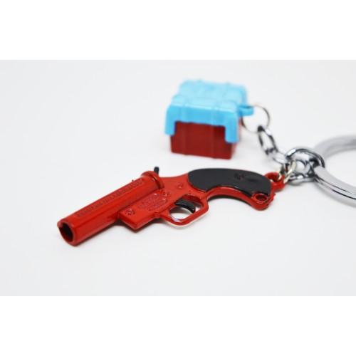 PUBG Flare Gun & Drop Box Keychain Very High Quality