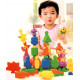 English Learning 28 Pcs Numbers Educational Blocks for Kids with Cartoon Figures, Stacking Fun Toy for Kids