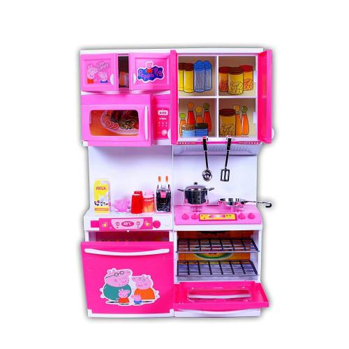 Peppa Pig Modular Kitchen Little Chef Kids Kitchen Play Set with Light & Sound Cooking Kitchen Set Play Toy