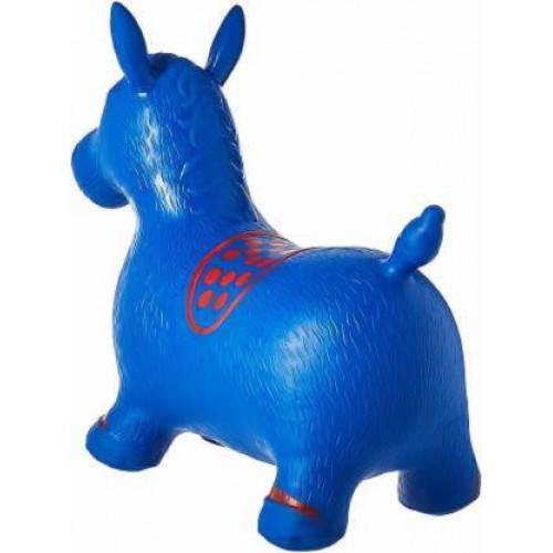 Inflatable Jumping and Riding Horse Bouncing Horse Hopper Animal Toy for Kids (Multi Color)