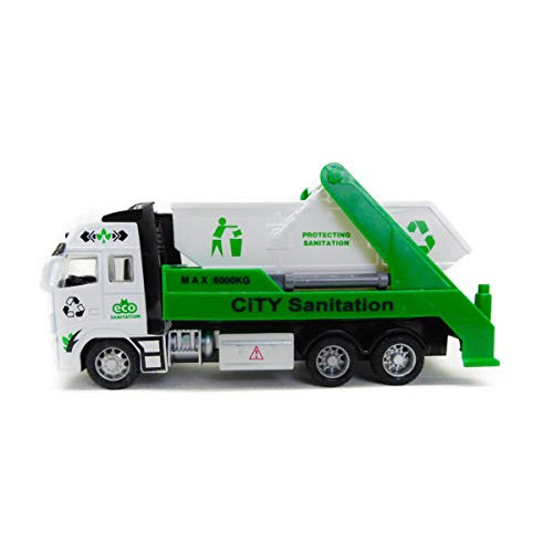 Smart City Sanitation Truck Vehicle Toy 1:38 Scale Friction Powered Truck Toy for Kids.