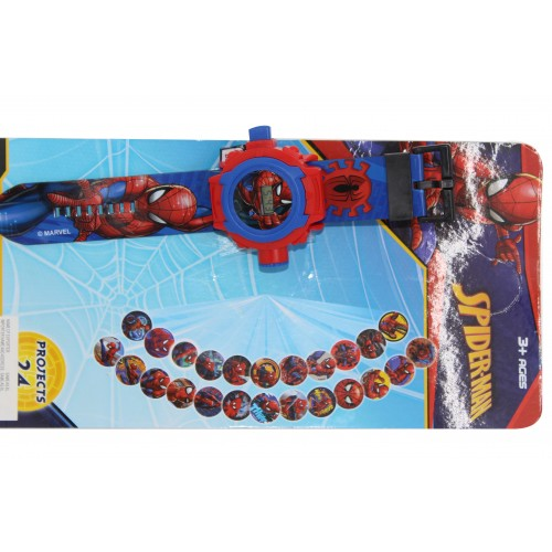 Spiderman Cartoon Image Projection Watch for kids