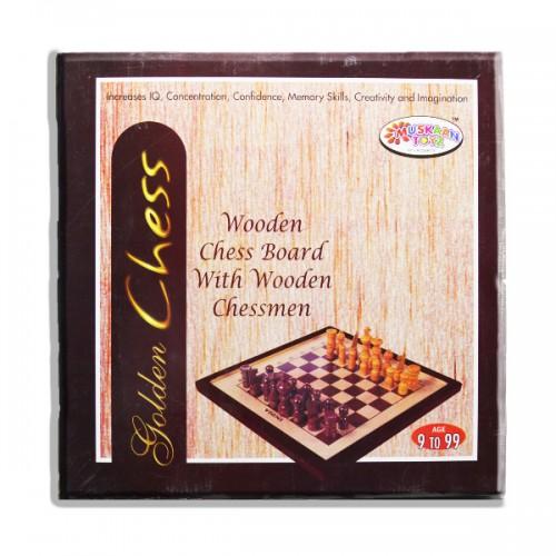 Golden chess Wooden Chess Board