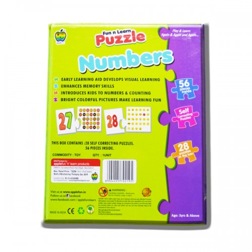 ABC Puzzle English Alphabets Color Picture Learning Toy