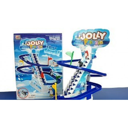 Jolly Penguin Racetrack Series with Music, Light for Kids, Multicolor