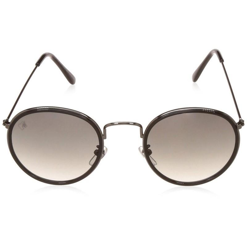 3f2f3589d85b6 MTV 140-C1 Black Silver Frame with Grey Glass Unisex Gradient Round  Sunglasses