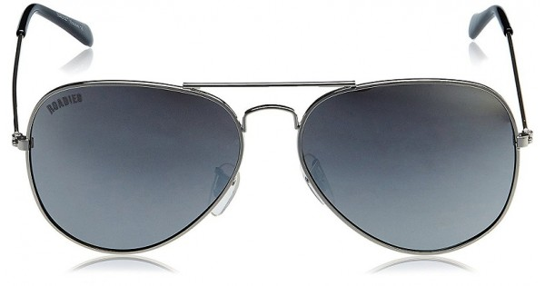 f0cd28a7486 MTV Roadies RD-111-C8 Sliver Frame With Grey Mirror Unisex Aviator  Sunglasses