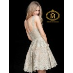 Light golden short flairy sleeveless dress ( Measurment in comment box )