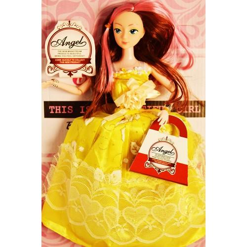 Complete Doll House Play with Miniature Princess Figurine Barbie Princess Gift Box Set