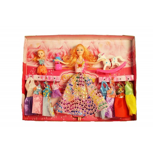 Complete Doll House Play with Miniature Princess Figurine