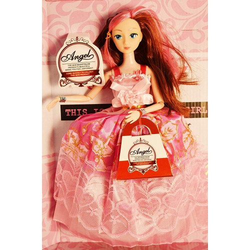 Doll House Play with Miniature Figurine Barbie Princess Doll Dress Up Girl Gift Box Set