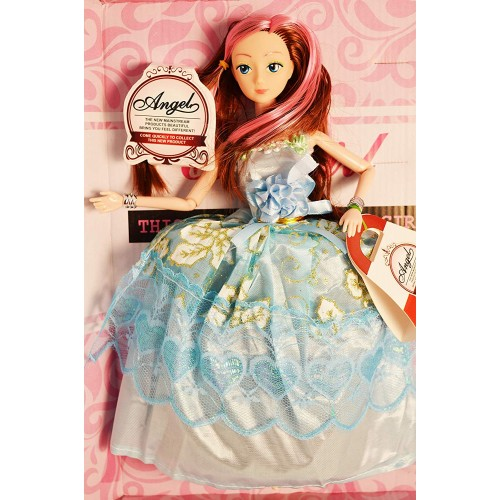 Doll House Play with Miniature Princess Figurine Barbie Princess Doll Dress Up Girl Gift Box Set