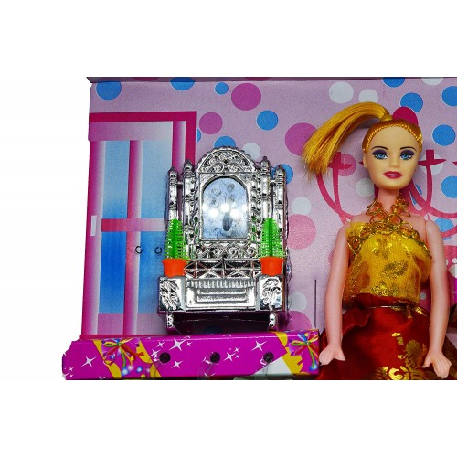Fashion Barbiee Doll Multi Color Dress