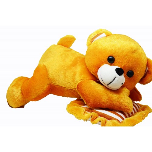 Cute yellow feeling lonely teddy Bear toy